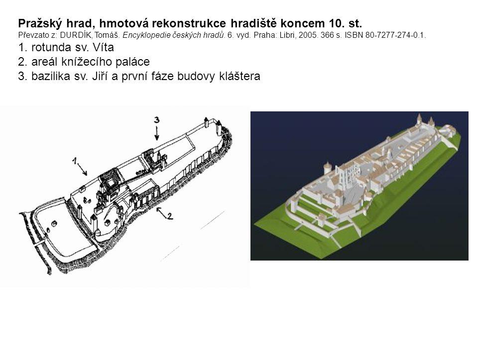 Pražský hrad, hmotová rekonstrukce hradiště koncem 10.