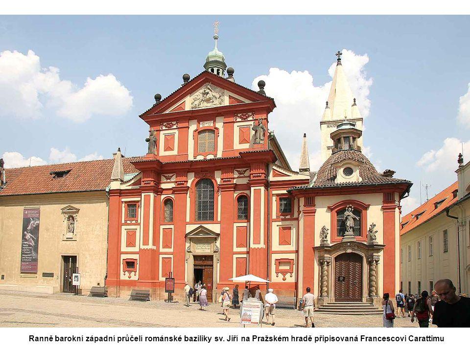 Ranně barokní západní průčelí románské baziliky sv.