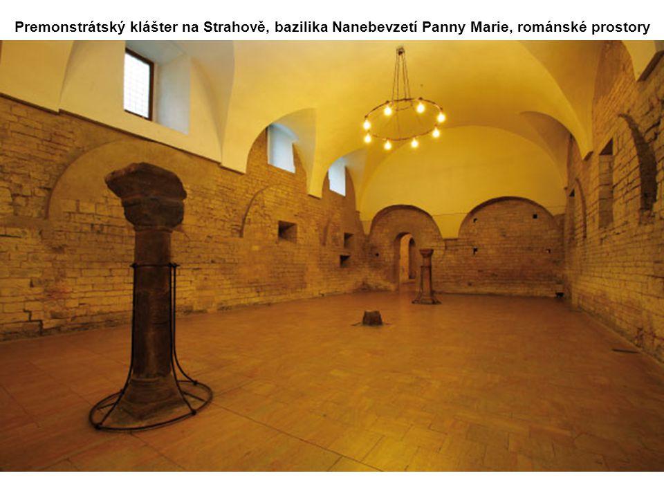 Premonstrátský klášter na Strahově, bazilika Nanebevzetí Panny Marie, románské prostory