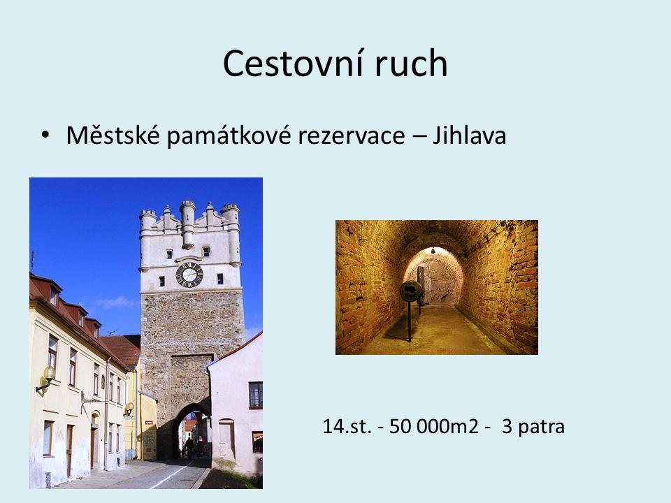 Cestovní ruch Městské památkové rezervace – Jihlava 5 14.st. - 50 000m2 - 3 patra