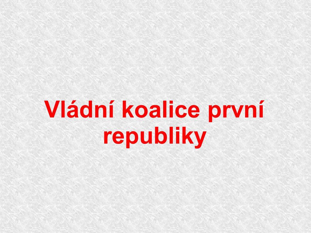 Vládní koalice první republiky
