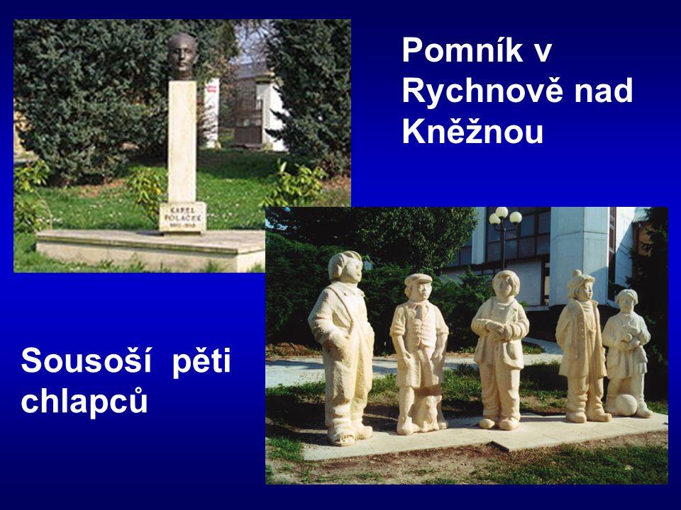 Pomník v Rychnově nad Kněžnou Sousoší pěti chlapců
