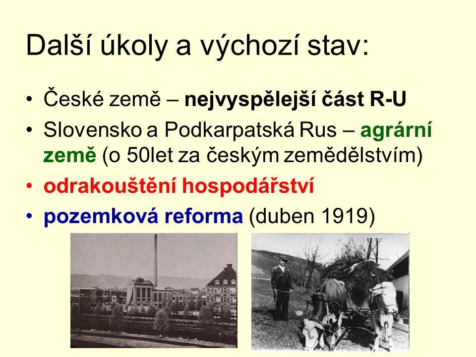 v červnu 1919 – první volby vítězí soc.dem. – koalice s agrární stranou (tzv.