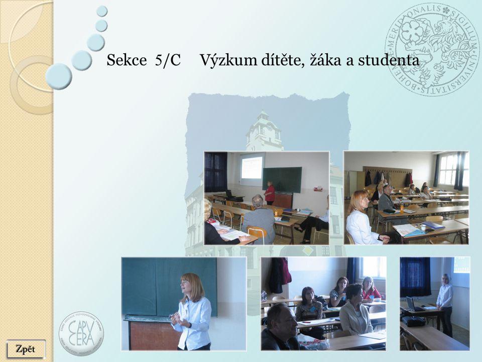 Sekce 5 /C Výzkum dítěte, žáka a studenta
