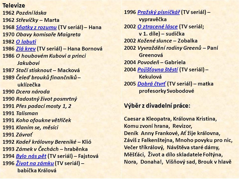 TV film Čeleď brouků finančníků v roli uklízečky (1989)