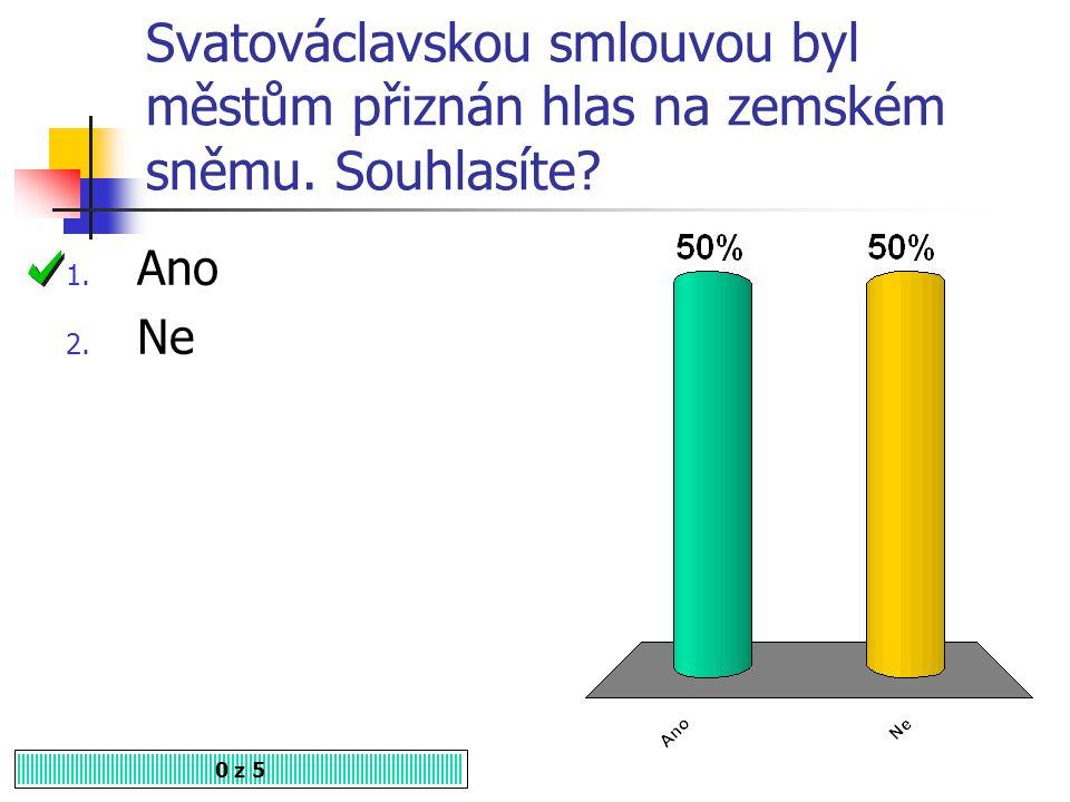 Svatováclavská smlouva byla uzavřena roku 1. 1471 2. 1517 3. 1526 0 z 5