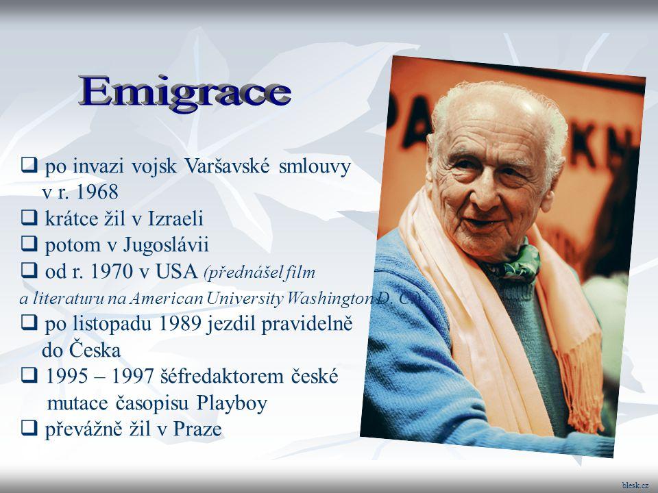 Arnošt Lustig zemřel 26.února 2011 ve věku čtyřiaosmdesáti let.