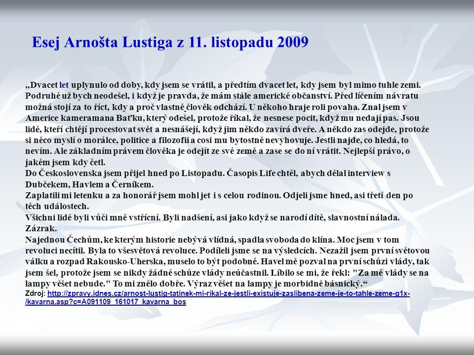 Téma: Arnošt Lustig – 9.ročník Použitý software: držitel licence - ZŠ J.