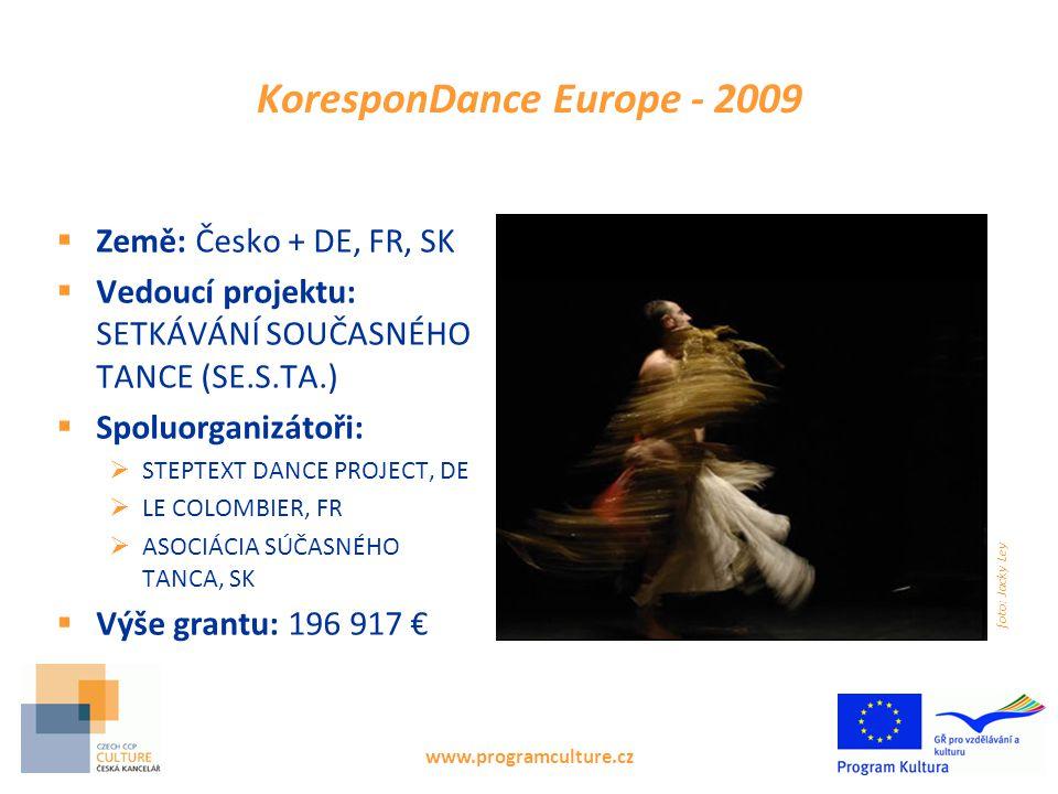 www.programculture.cz Podpora překladů s českou účastí v roce 2010  DANIEL PODHRADSKÝ DAUPHIN PRAHA Výše grantu: 24 827 € 9 knih  TRANSTEATRAL o.