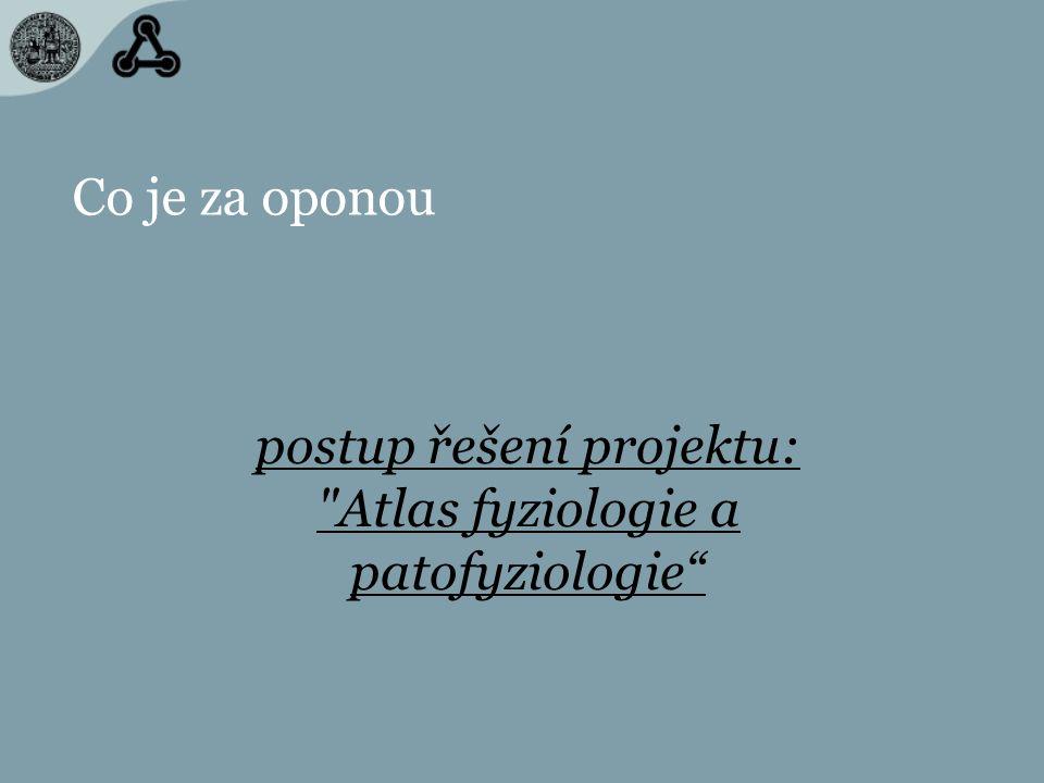 Co je za oponou postup řešení projektu: Atlas fyziologie a patofyziologie