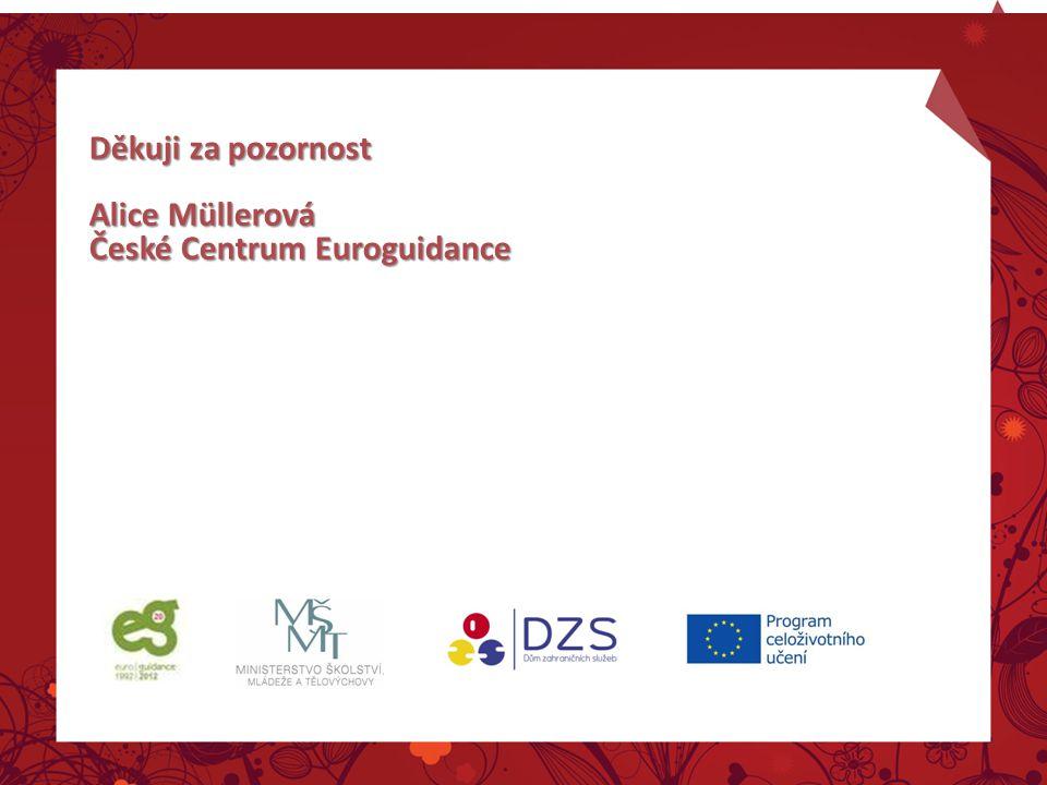 Děkuji za pozornost Alice Müllerová České Centrum Euroguidance