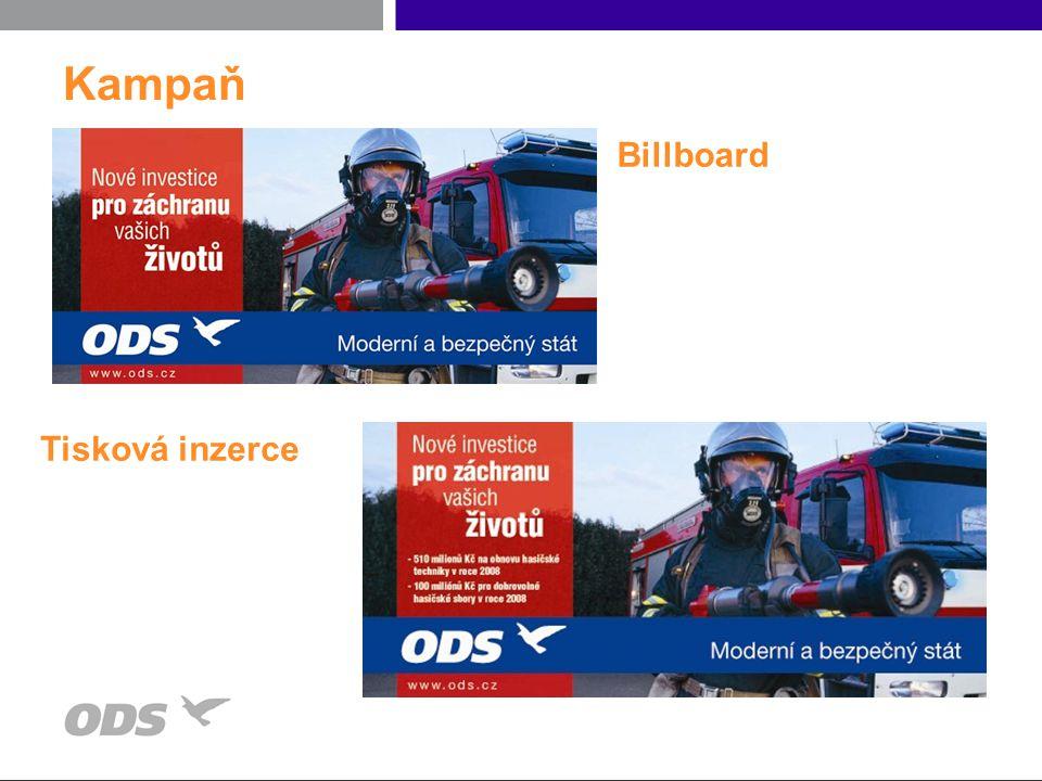 Kampaň Billboard Tisková inzerce