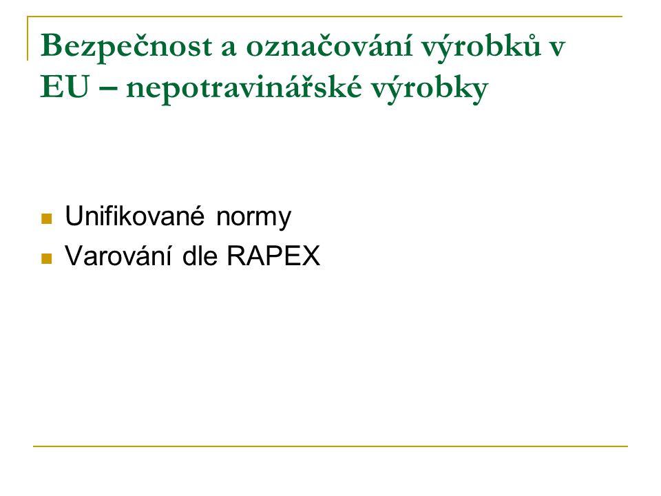 Maximum informací Srozumitelně Jasně Česky Odpovědnost prodávajícího za správnost Účinná kontrola a opatření Bezpečnost a označování výrobků v EU – zájem SOS