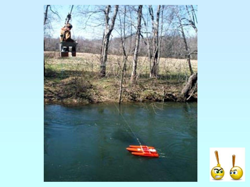 Jak dostat vrtuli do řeky?