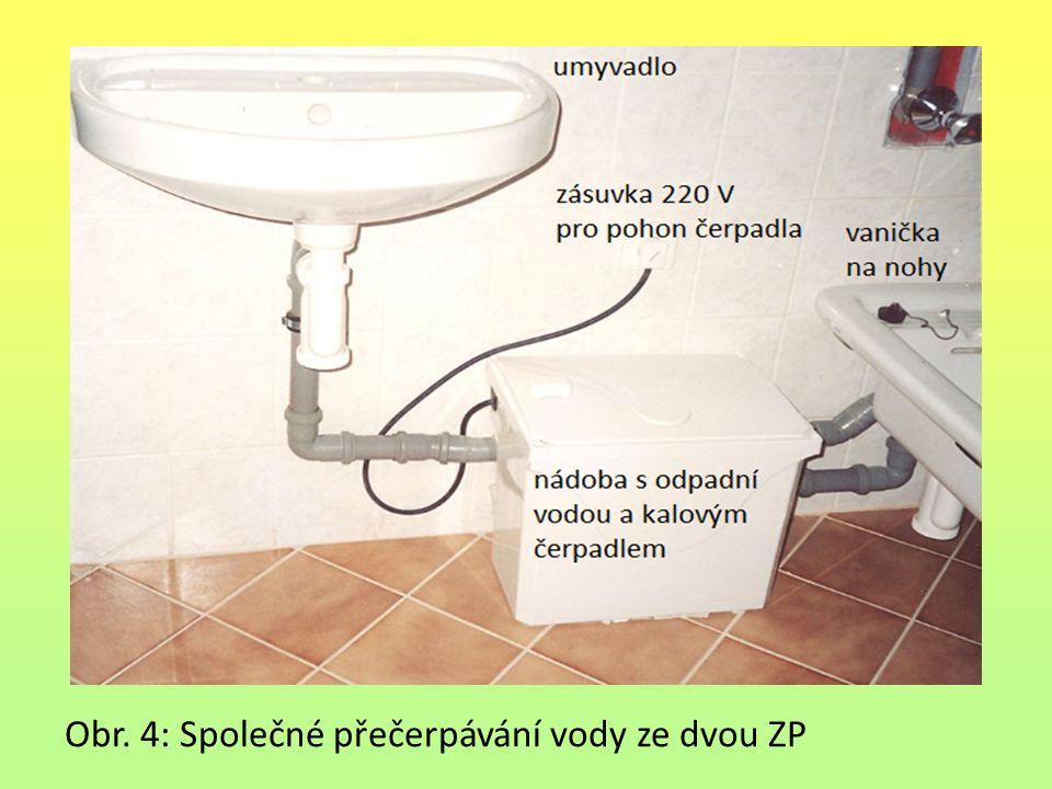 Obr. 4: Společné přečerpávání vody ze dvou ZP
