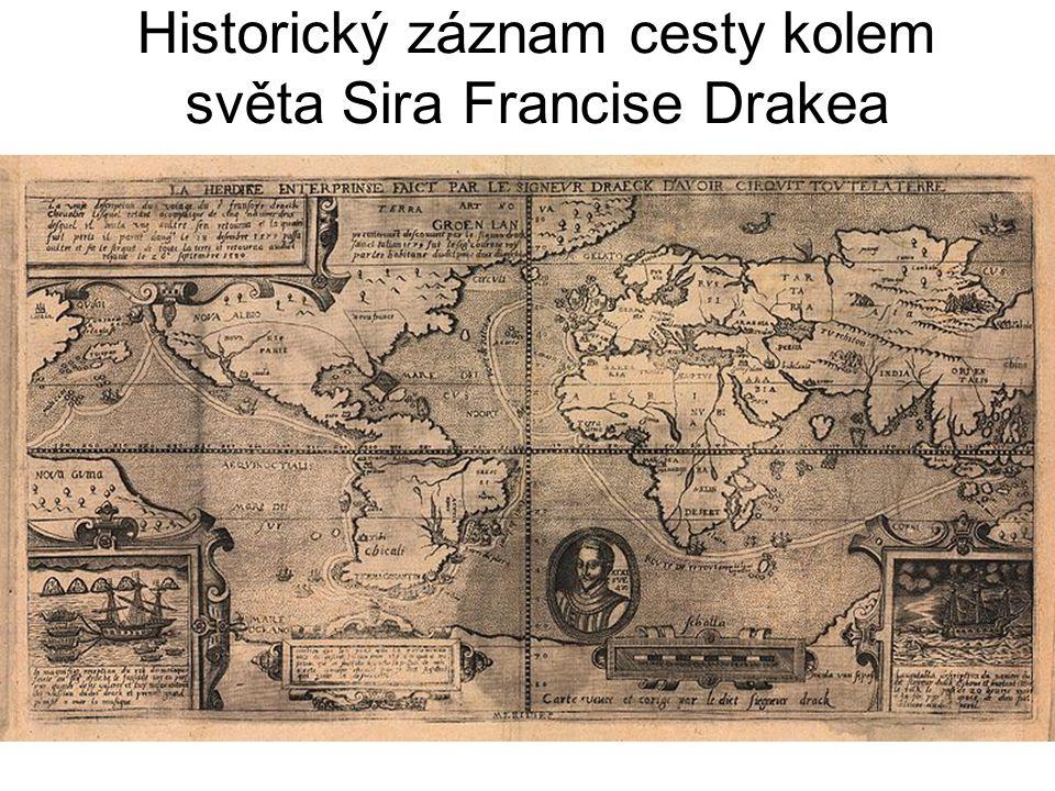 Historický záznam cesty kolem světa Sira Francise Drakea