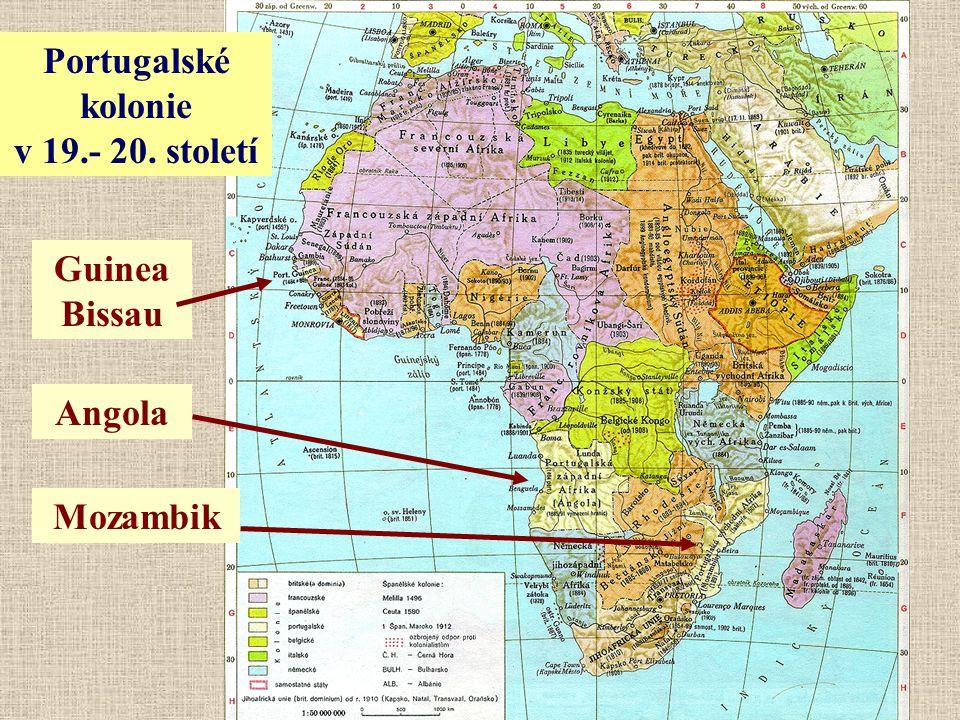 Angola Mozambik Guinea Bissau Portugalské kolonie v 19.- 20. století