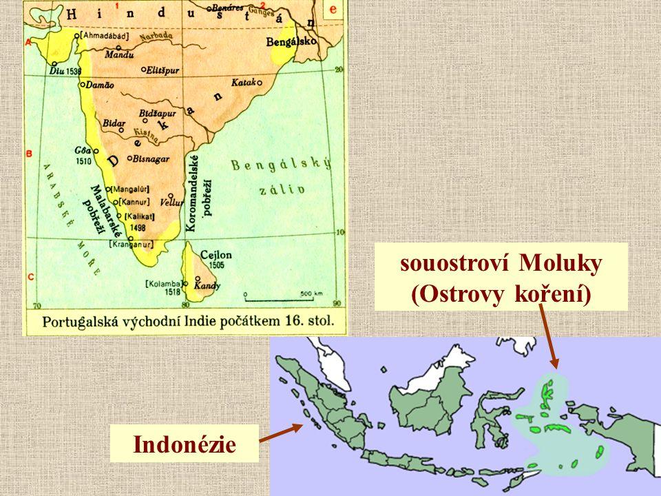 souostroví Moluky (Ostrovy koření) Indonézie