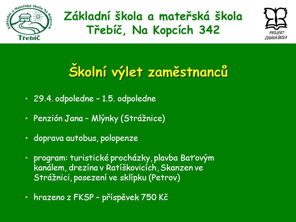 Základní škola a mateřská škola Třebíč, Na Kopcích 342 Školní výlet zaměstnanců 29.4.