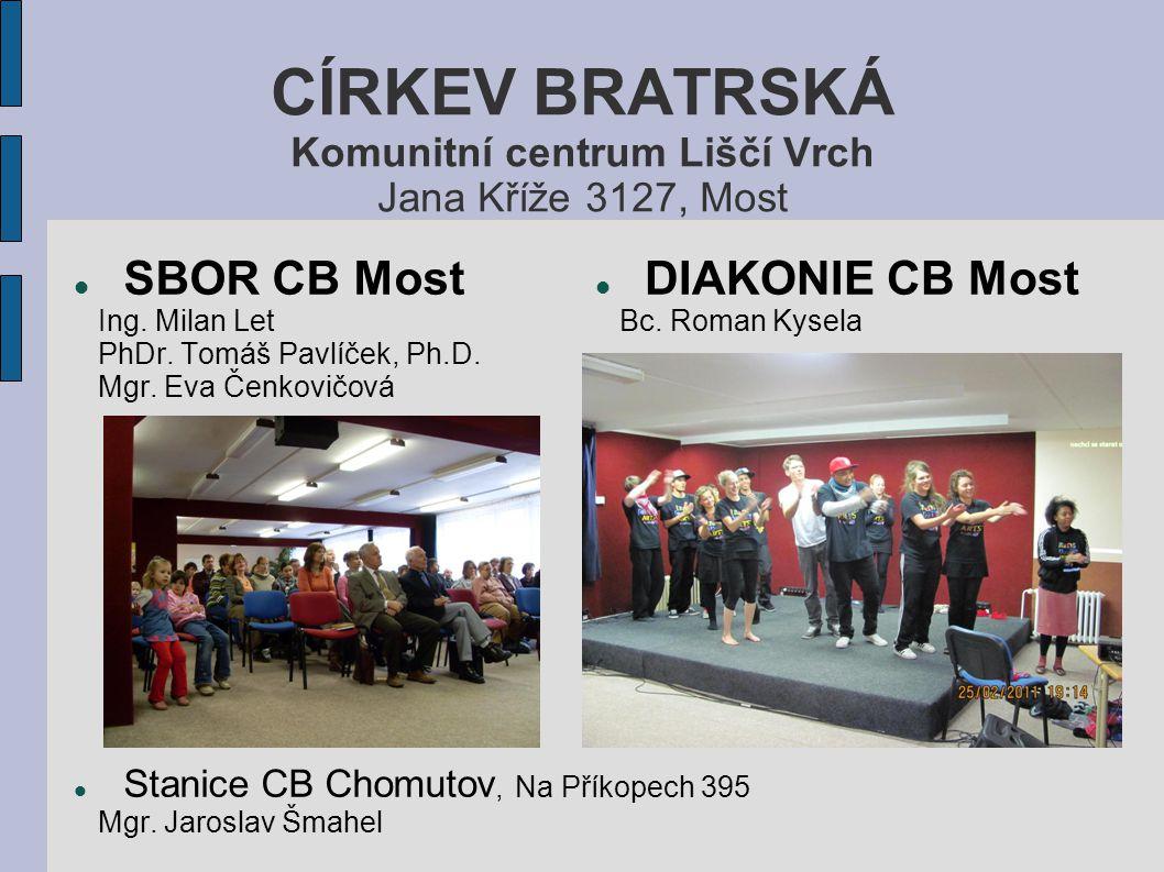 CÍRKEV BRATRSKÁ Komunitní centrum Liščí Vrch Jana Kříže 3127, Most SBOR CB Most Ing.