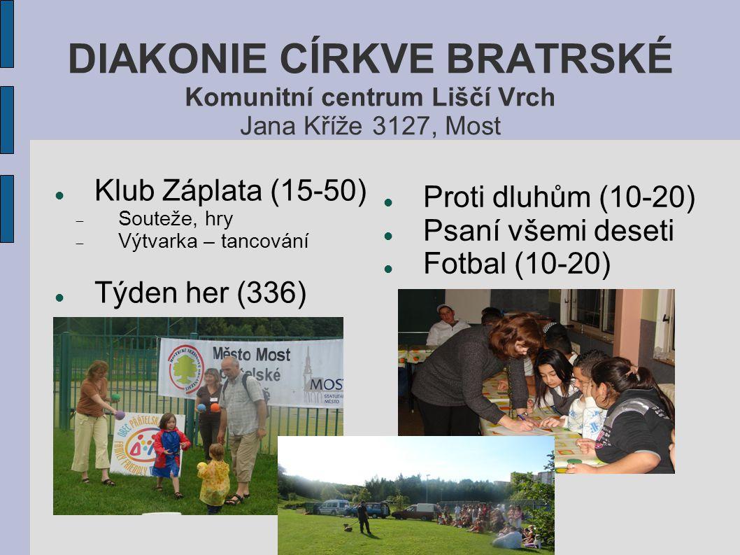 Regionální spolupráce ISACHAR Konference  Všeobecké konference (300)  Konference pro mládež (150)  Modlitební konference (50)  Večery chval (200) Výjezdy – Go campy  Velkopáteční odpoledne  Dny otevřených dveří Průzkum veřejného mínění (v roce 2009, 661 anketních lístků) Letní tábory  Pro děti – Na cestách s Abrahamem  Pro dorost – Narnie III, Plavba Jitřního Poutníka Projekt Jižní Súdán  Angličtina  Biblická škola