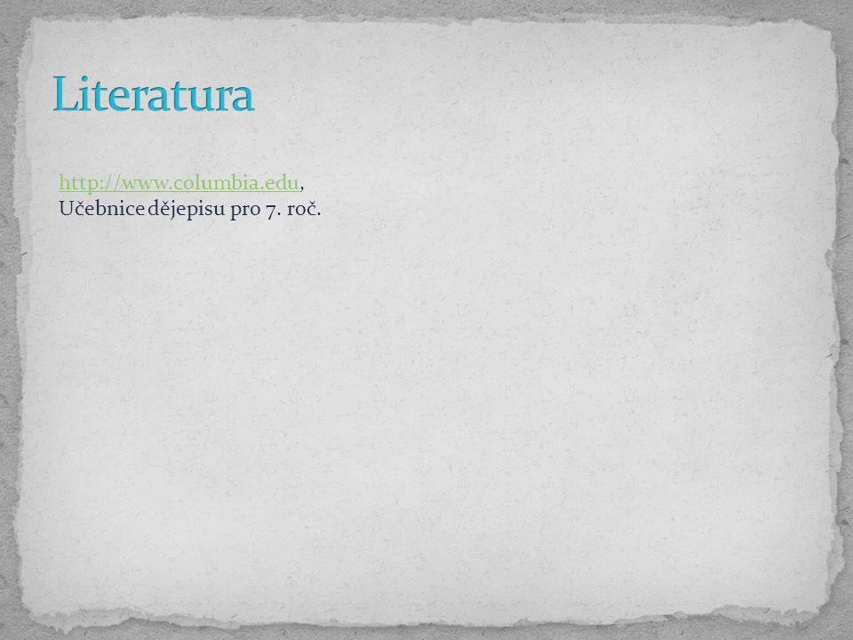 http://www.columbia.eduhttp://www.columbia.edu, Učebnice dějepisu pro 7. roč.