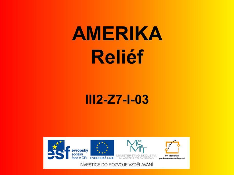 AMERIKA Reliéf III2-Z7-I-03