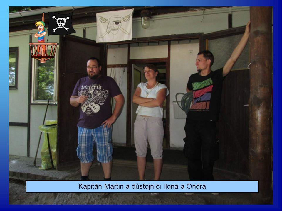 Kapitán Martin a důstojníci Ilona a Ondra