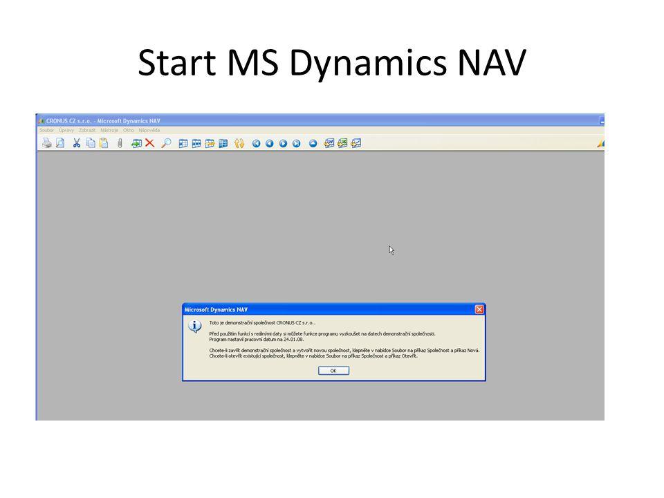 Start MS Dynamics NAV