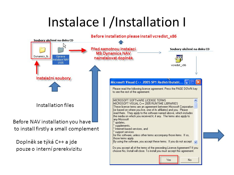 Instalace II/Installation II Otevřete podadresář Cside Client …… Open firstly subdirectory Cside Client ……