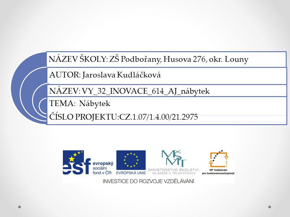 NÁZEV ŠKOLY: ZŠ Podbořany, Husova 276, okr.