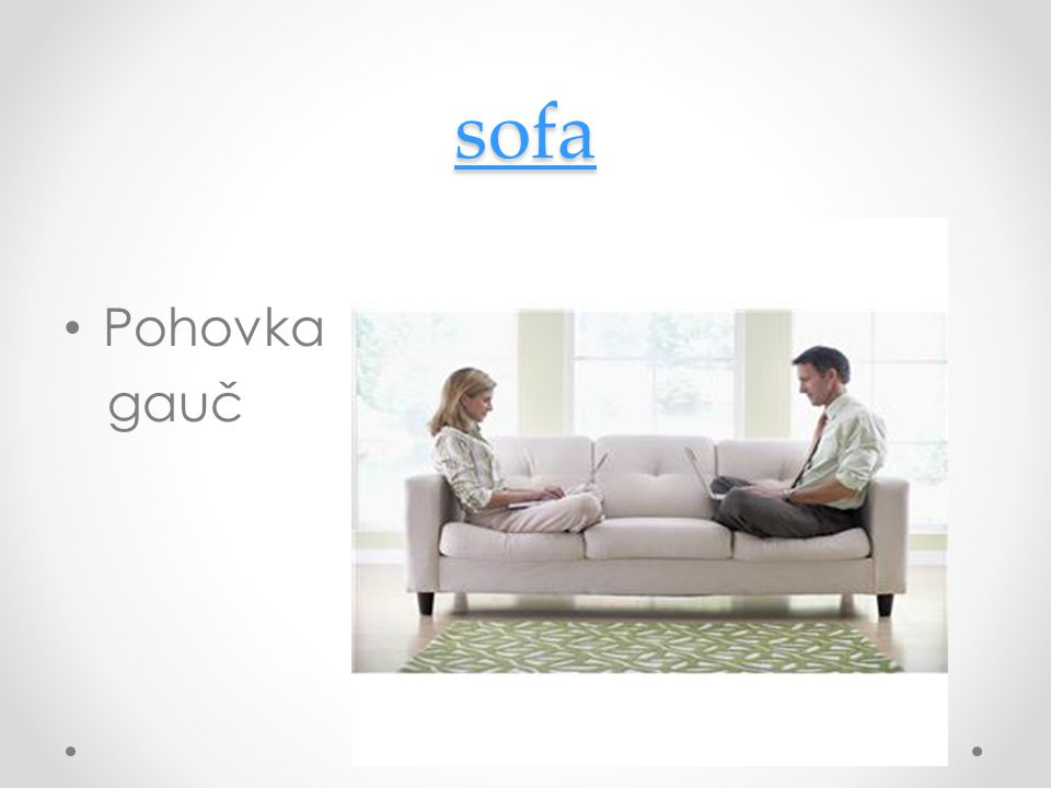 sofa Pohovka gauč