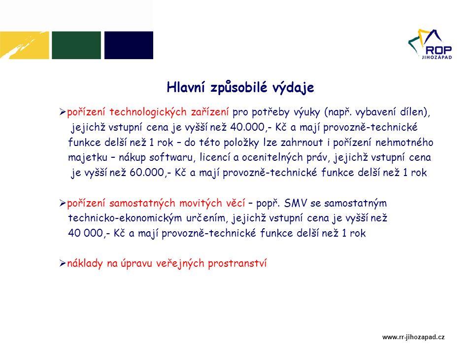 www.rr-jihozapad.cz  pořízení technologických zařízení pro potřeby výuky (např.
