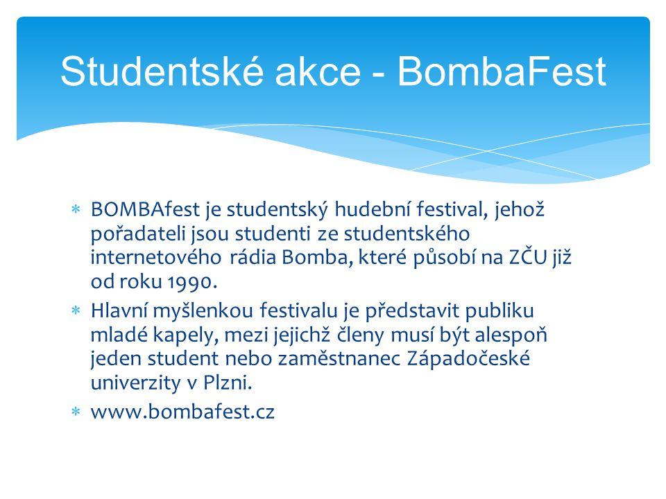  BOMBAfest je studentský hudební festival, jehož pořadateli jsou studenti ze studentského internetového rádia Bomba, které působí na ZČU již od roku