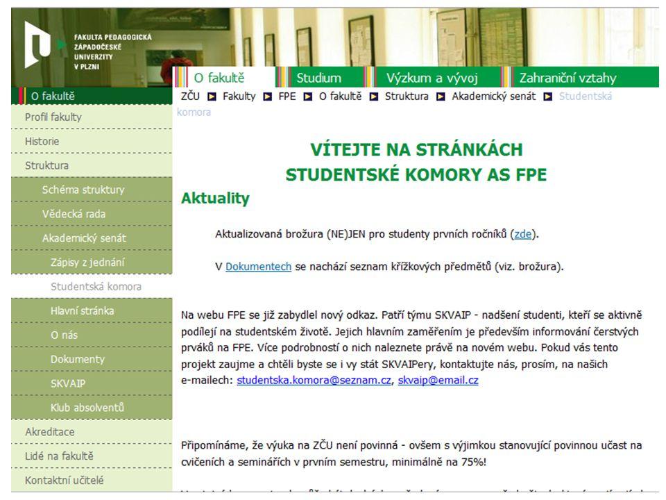 21 členů (13 učitelů, 7 studentů, 1 doktorand) Předseda: RNDr. Miroslav Randa, Ph.D. Předseda studentské komory (SK): SK zajišťuje řadu aktivit pro st