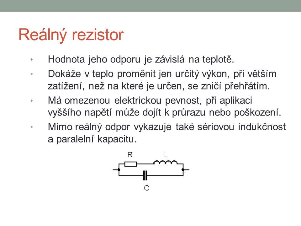 Konstrukce rezistorů Z technologického hlediska máme dva základní typy rezistorů: 1.