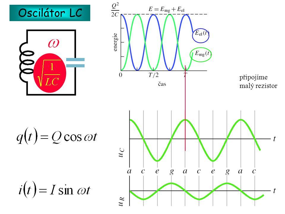 Oscilátor LC připojíme malý rezistor
