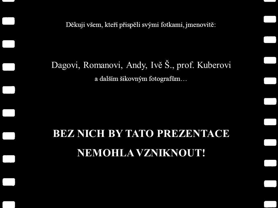 Děkuji všem, kteří přispěli svými fotkami, jmenovitě: Dagovi, Romanovi, Andy, Ivě Š., prof.