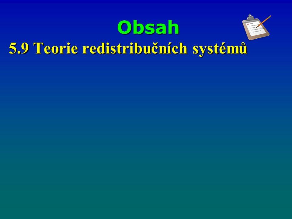 Obsah 5.9 Teorie redistribučních systémů