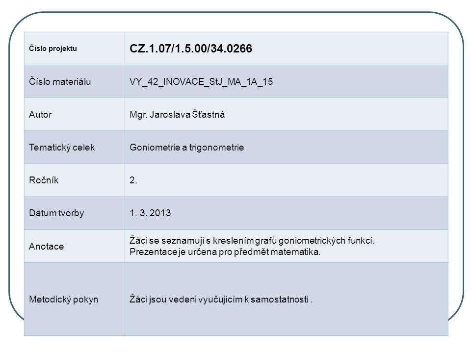 Číslo projektu CZ.1.07/1.5.00/34.0266 Číslo materiáluVY_42_INOVACE_StJ_MA_1A_15 AutorMgr.
