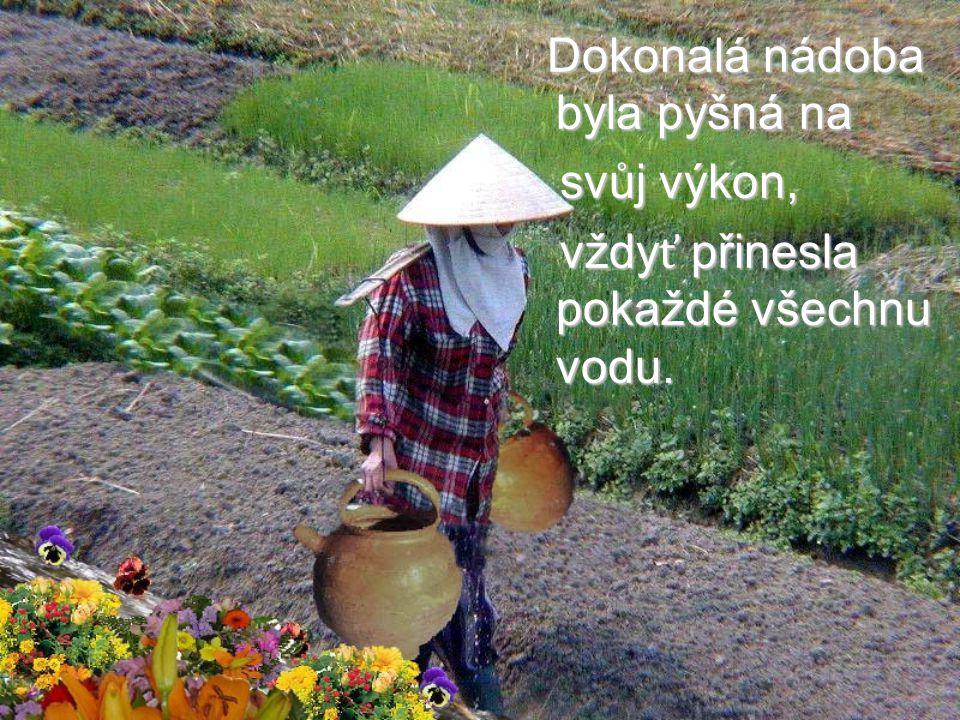 Celé dva roky to takto chodilo, Celé dva roky to takto chodilo, žena donesla žena donesla každý den domů jen jeden a půl nádoby vody.