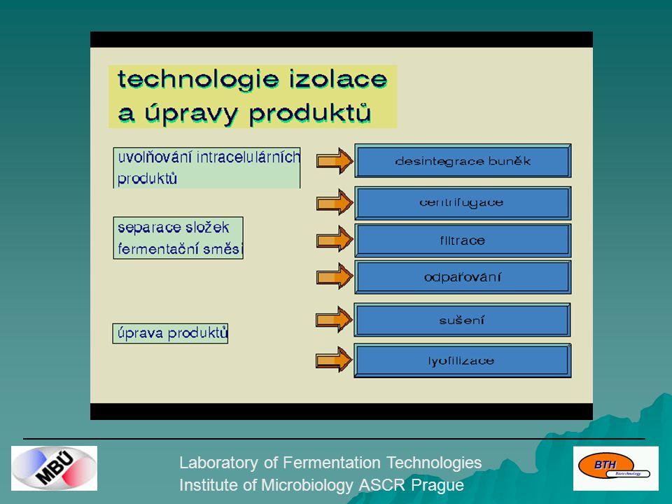 Laboratory of Fermentation Technologies Institute of Microbiology ASCR Prague Průběh kultivace
