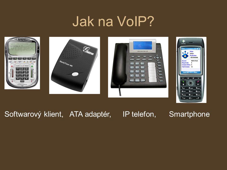 Jak na VoIP Softwarový klient, ATA adaptér, IP telefon, Smartphone