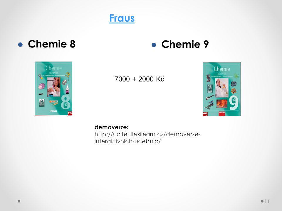 ● Chemie 8 11 Fraus ● Chemie 9 demoverze: http://ucitel.flexilearn.cz/demoverze- interaktivnich-ucebnic/ 7000 + 2000 Kč