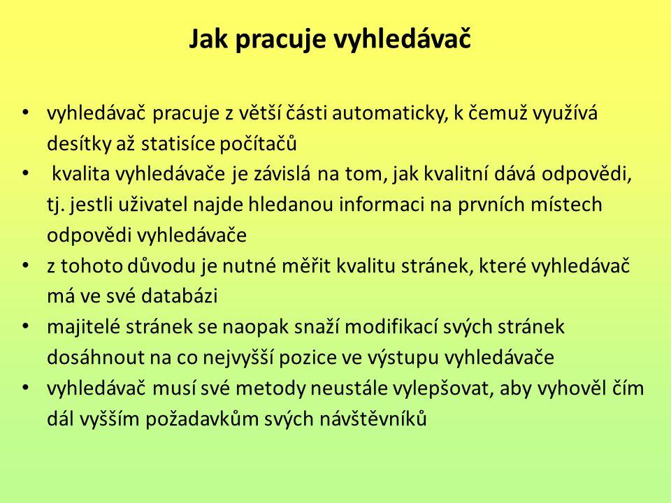Seznam obrázků: Obr.1: Internetové vyhledávače. In: Vyhledávače.cz [online].2012 [vid.