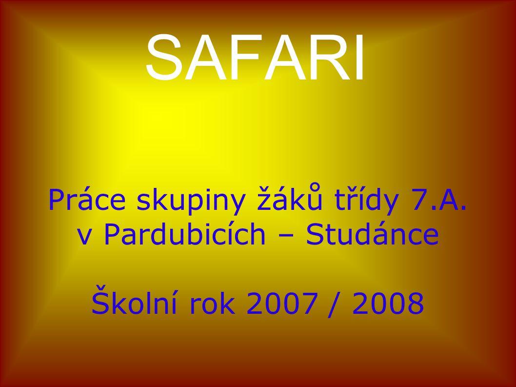 Zdroje : Internet: http://www.cojeco.cz/index.phpzal=1&s_term=safari http://www.zoodk.cz/galerie/05_letni_sezona.php http://www.zoopraha.cz/pic_show_gal.php?id=695 http://www.africa.webpark.cz http://www.fischer.cz/online/PDF_Z2006/Exotica_2006_ Kena_Tan_Zan.pdf http://wallpapers.crazyfrog.cz/index.php/v/zvirata/ DVD, příloha časopisu PCWORLD 4/2007, LANGMaster – Zeměpis 2 (Multimediální výuka zeměpisu pro základní školy) 
