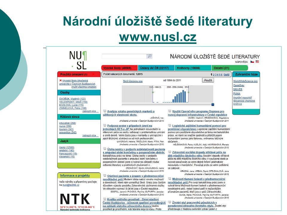 Národní úložiště šedé literatury www.nusl.cz www.nusl.cz