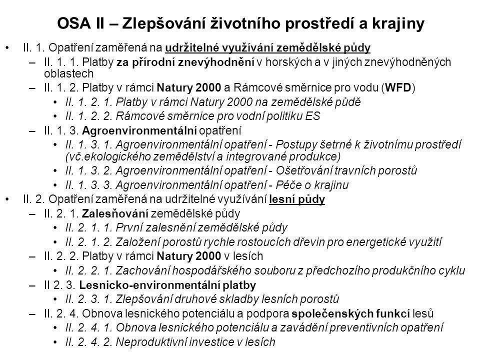 OSA II – Zlepšování životního prostředí a krajiny II.