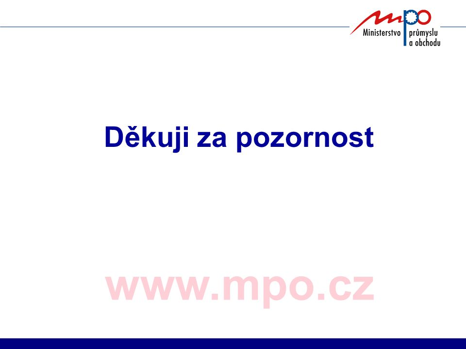 www.mpo.cz Děkuji za pozornost