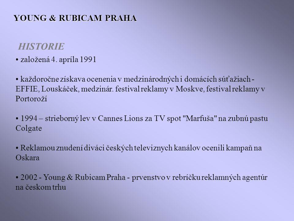 YOUNG & RUBICAM PRAHA založená 4.